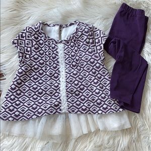 Pippa & Julie shirt/pant set 18M EUC